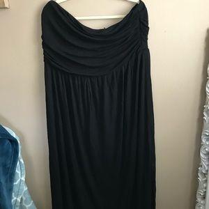 Lane Bryant black strapless dress